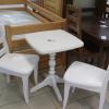 Комплект для чаепития. Стол и два стула из массива сосны. Цвет белый. Цена 15000 руб.