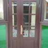дверь входная цвет шоколад стекло оконное