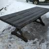 стол из состаренной сосны цвет черный 2500*900*750