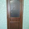 дверь из натурального дерева цвет тик стекло ромб