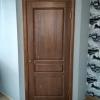 дверь из массива сосны цвет тик