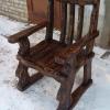 кресло из состаренной сосны цвет палисандр