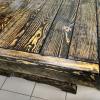 стол из состаренной сосны цвет палисандр 2000*900*750
